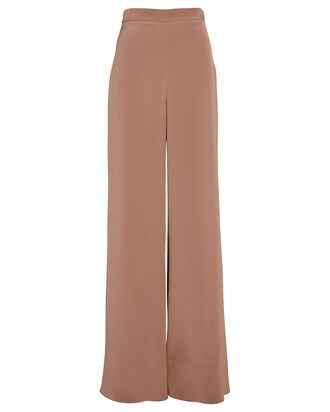 High-Rise Silk Wide-Leg Pants, DUSTY ROSE, hi-res