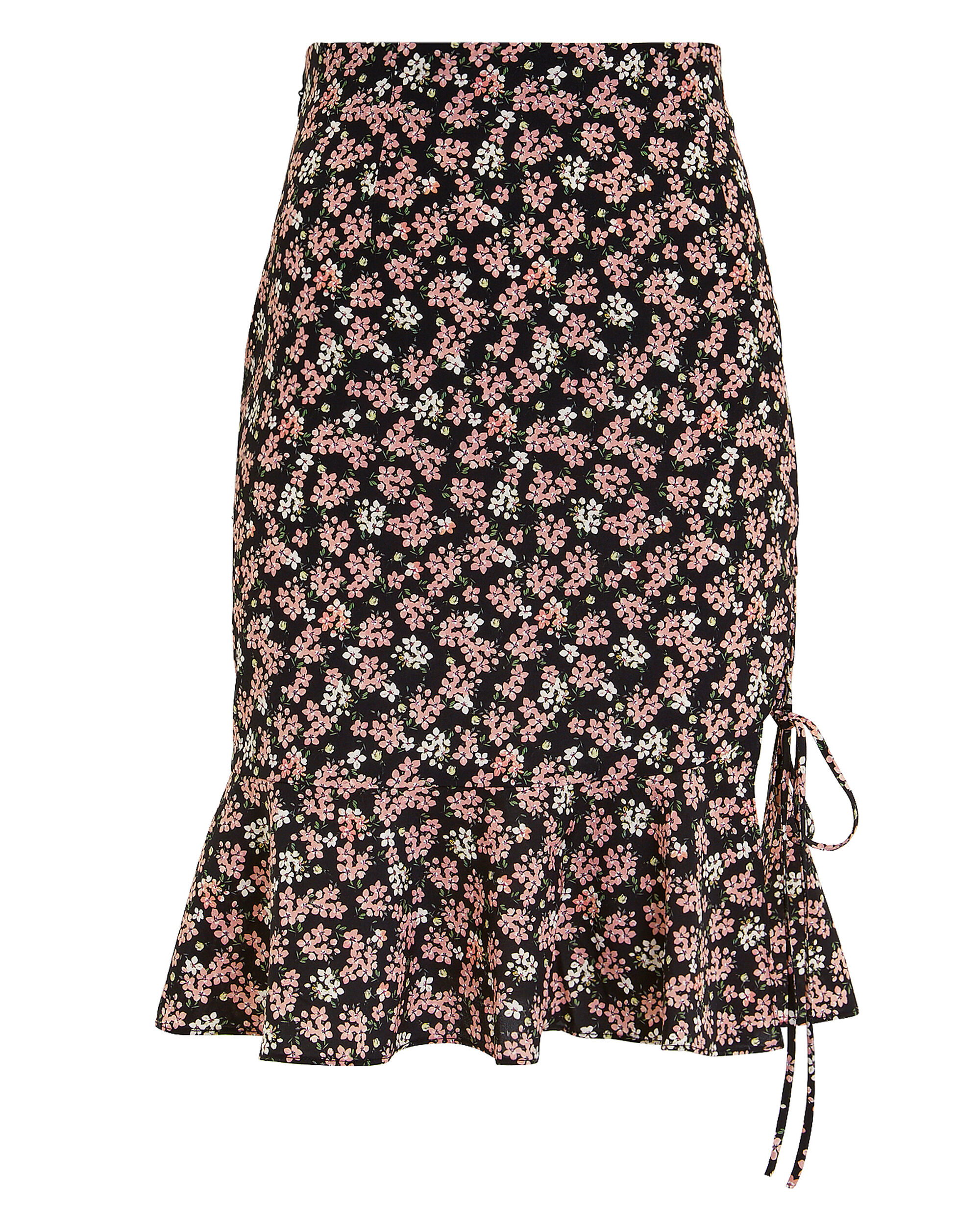 Amina Floral Skirt, BLACK, hi-res
