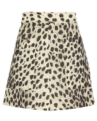 16a0b0462613 Leopard Print Cotton Mini Skirt