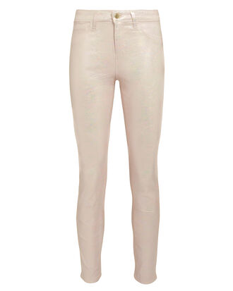 Margot Quartz Foil High-Rise Ankle Skinny Jeans, QUARTZ, hi-res