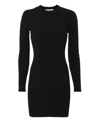 Staple Sleeve Knit Mini Dress, BLACK, hi-res