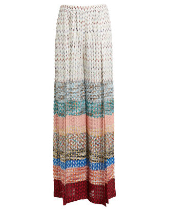 Wide Leg Knit Pants, RAINBOW/STRIPE, hi-res