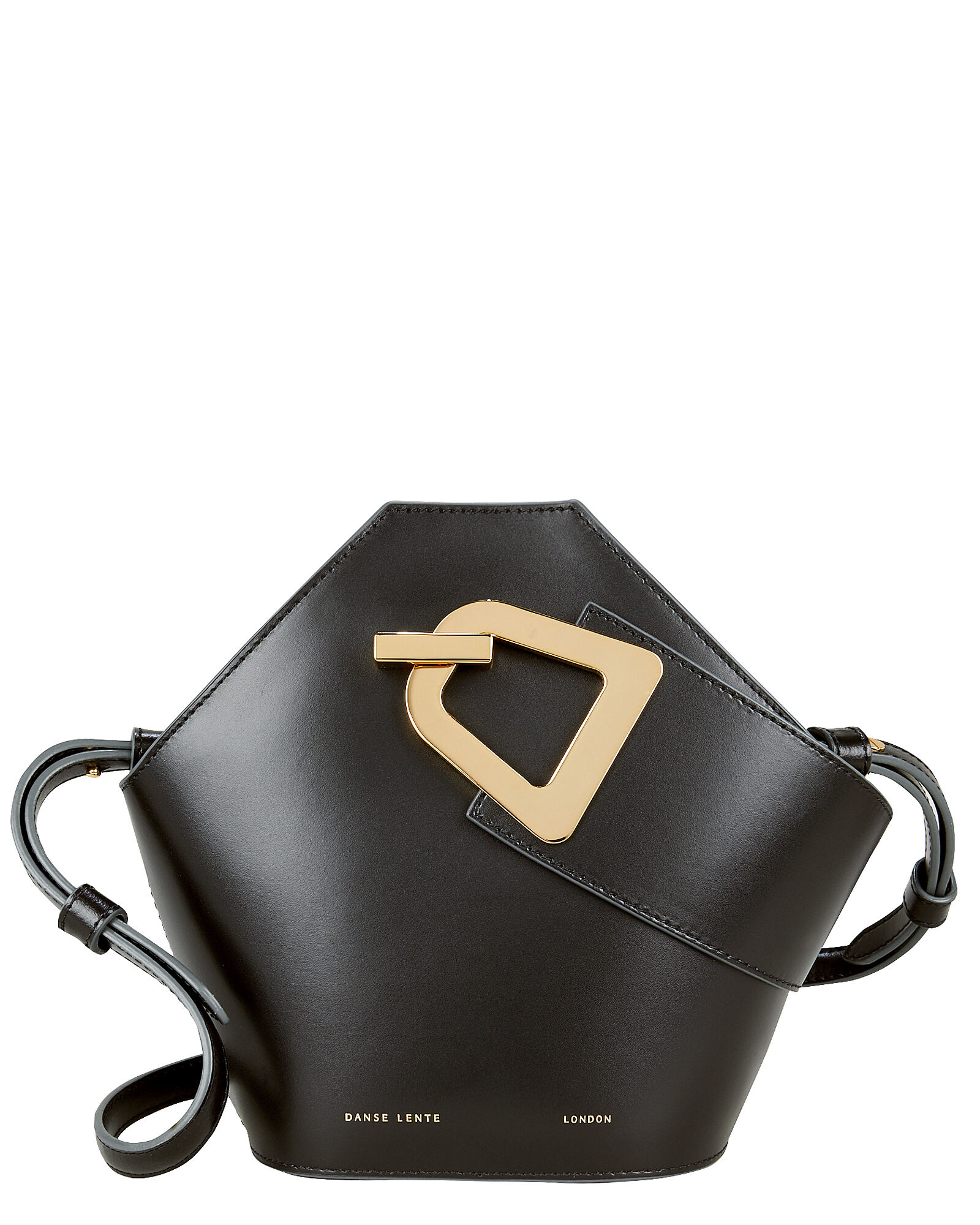 Mini Johnny Leather Clutch, BLACK, hi-res