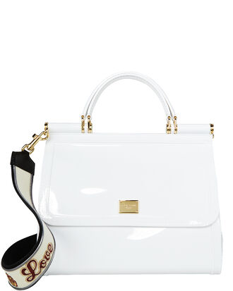 Sicily Rubber Shoulder Bag, WHITE, hi-res