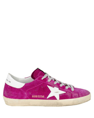 Superstar Suede Low-Top Sneakers, PURPLE-DRK, hi-res