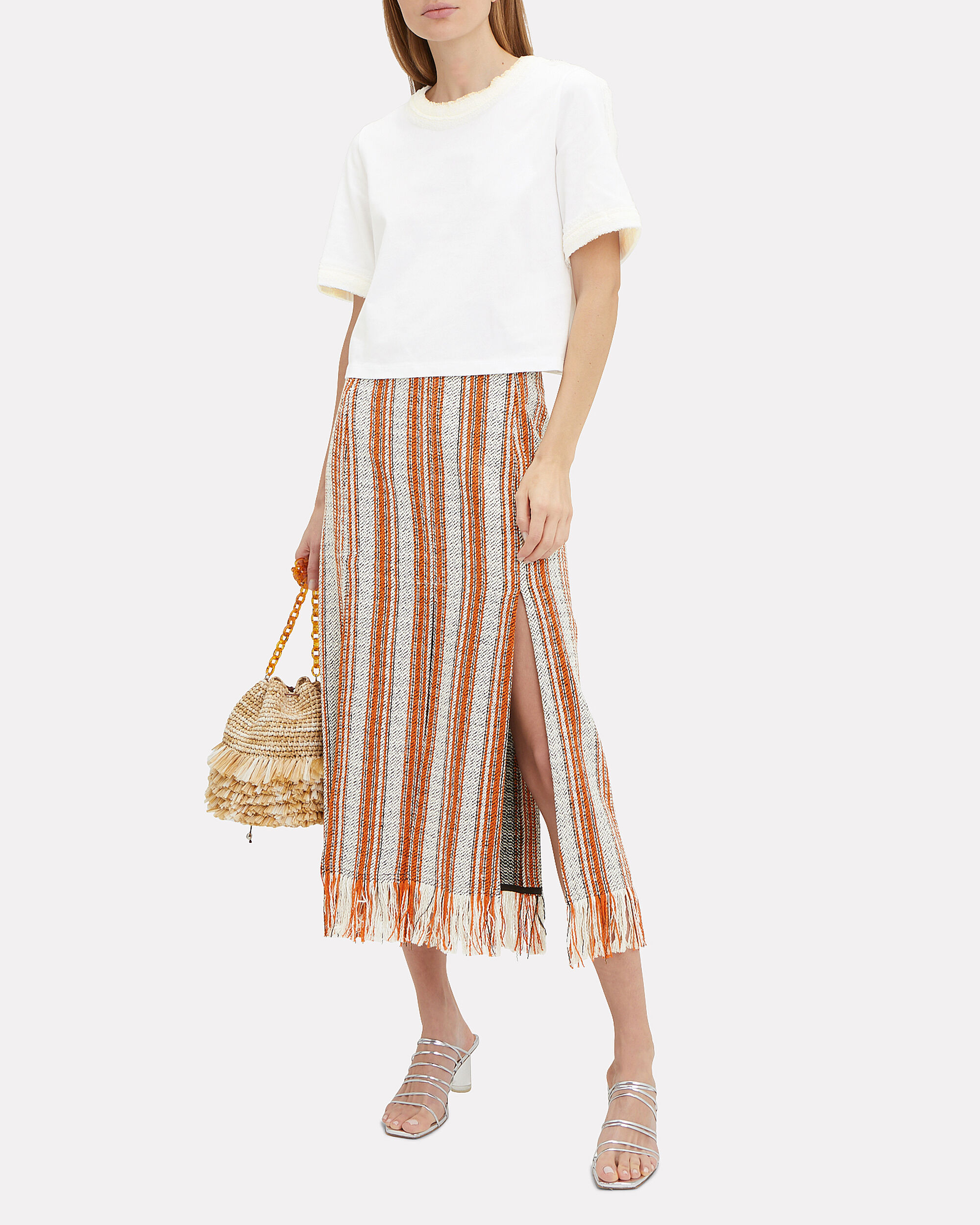 Fringed Berber Skirt, MULTI, hi-res