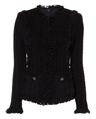 Ikaterina Knit Jacket, NAVY, hi-res