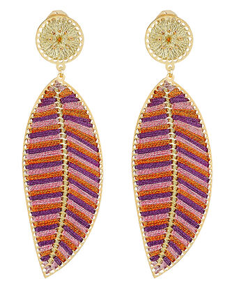 Hoja Del Ocaso Earrings, GOLD, hi-res