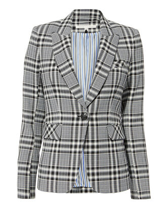 Ada Plaid Blazer, MULTI, hi-res