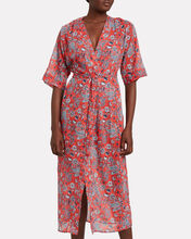 Paisley Print Cotton Cover-Up, RED/PAISLEY, hi-res