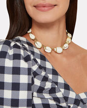 Beatrix Cowrie Shell Necklace, GOLD/WHITE, hi-res