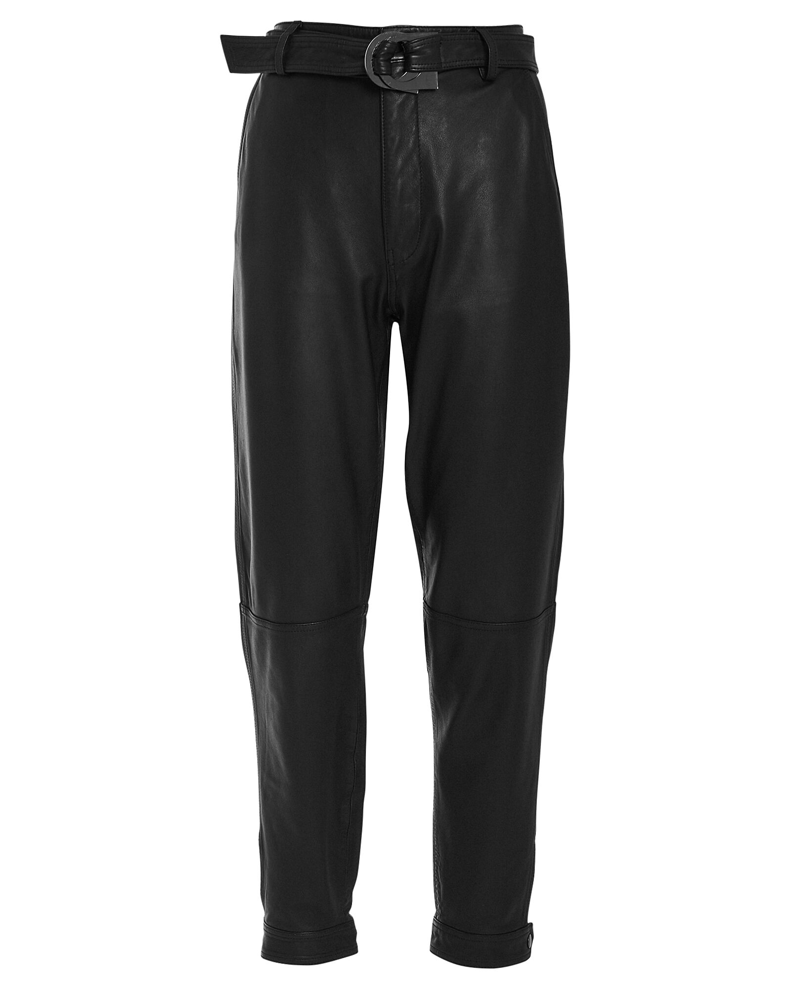 Jonah High-Rise Leather Trousers, BLACK, hi-res