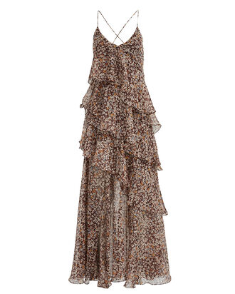 Garner Floral Chiffon Maxi Dress, MULTI, hi-res
