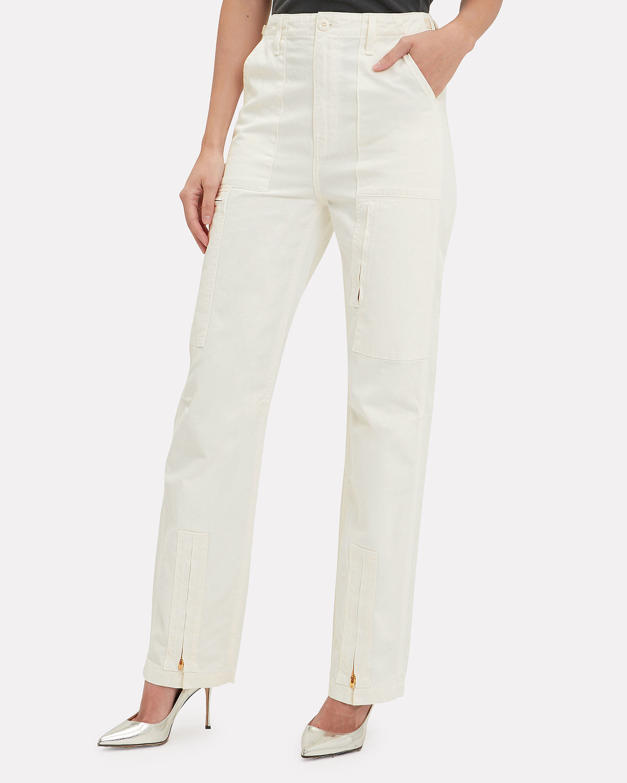 Dirty White Cargo Pants, OFF WHITE, hi-res
