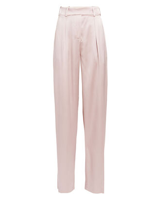 Wide Leg Satin Pants, BLUSH, hi-res