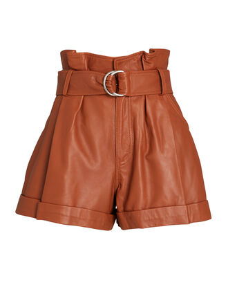 Dixon Leather Paperbag Shorts, , hi-res