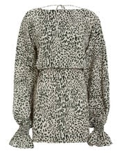 Aemiley Leopard Print Dress, GREEN, hi-res