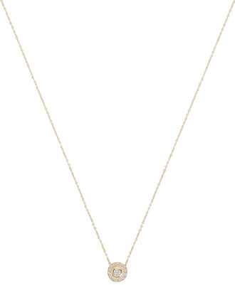 Round Diamond Pendant Necklace, GOLD, hi-res