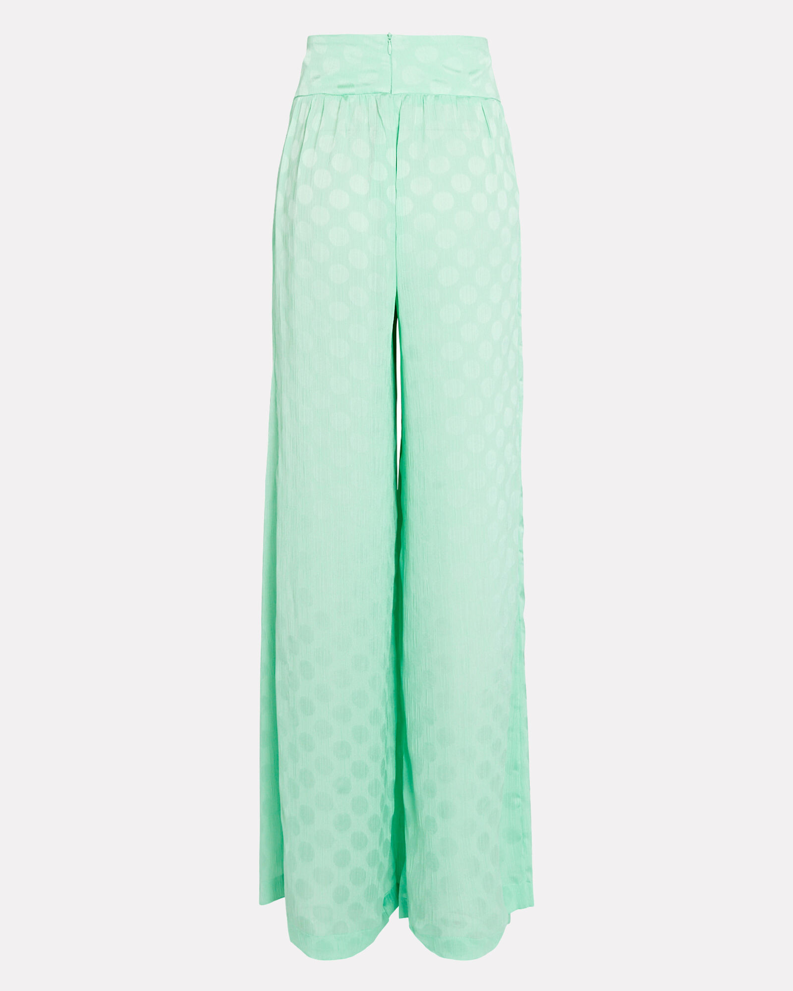 Polka Dot Wide-Leg Pants, GREEN-LT, hi-res