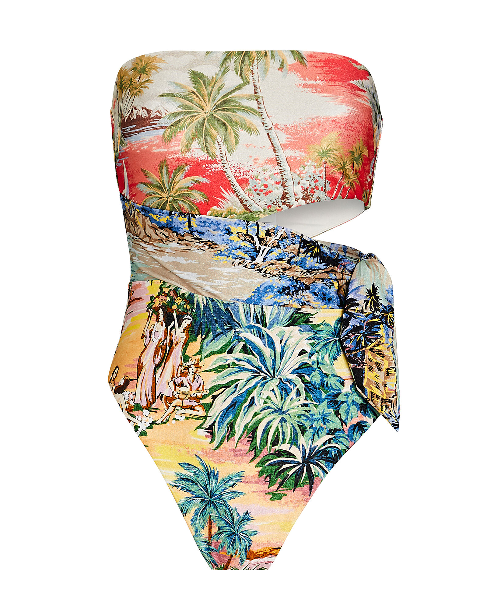 Juliette Printed One-Piece Swimsuit, RED/GREEN, hi-res