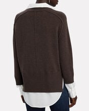 Alum Layered Looker V-Neck Sweater, BROWN, hi-res
