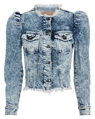 Dean Cropped Denim Jacket, DENIM-LT, hi-res