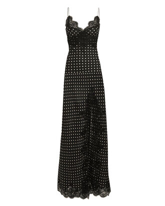 Pois Polka Dot Slip Dress, BLACK/WHITE, hi-res