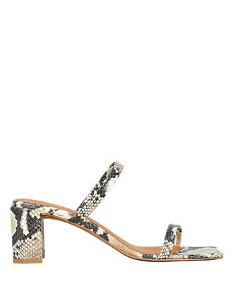 Tanya Snake Print Sandals, GREY, hi-res