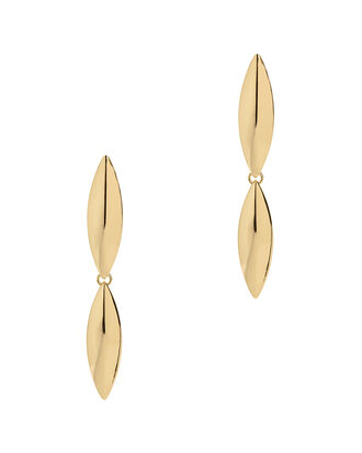 Talon Double Layer Earrings, GOLD, hi-res