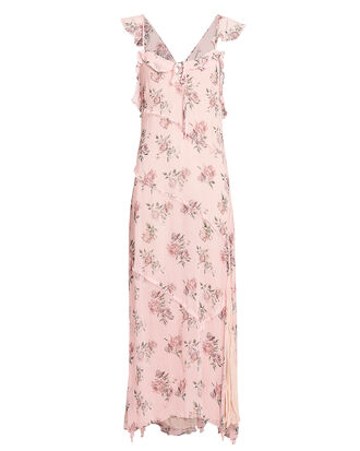 Sally Floral Maxi Dress, PINK FLORAL, hi-res