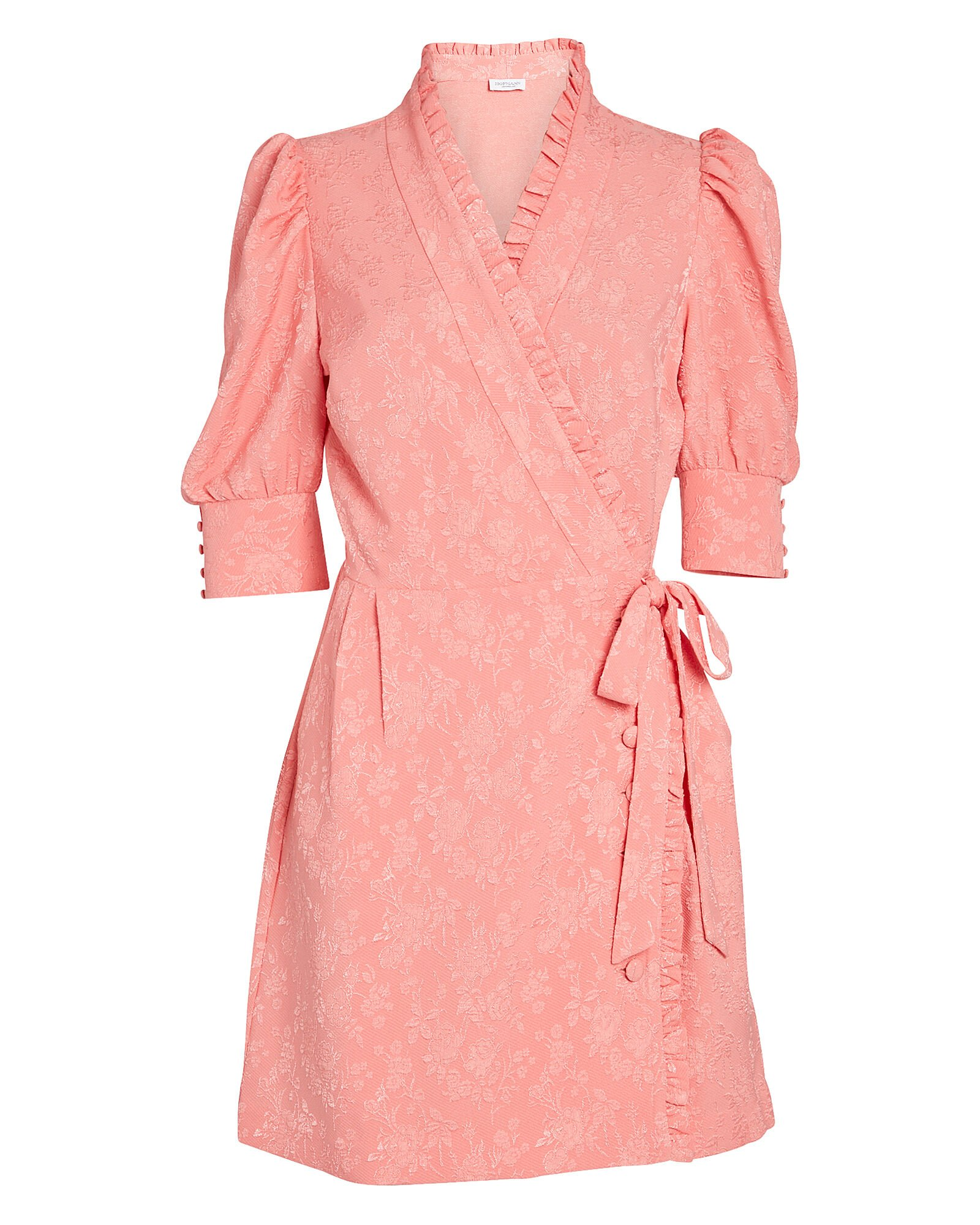 Camille Floral Wrap Dress, PINK, hi-res