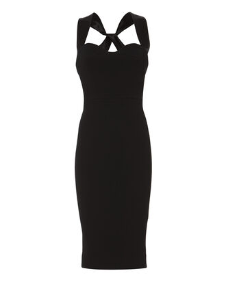 Crisscross-Back Cami Shift Dress, BLACK, hi-res