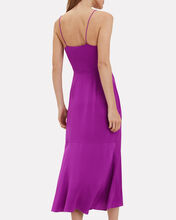 Paris Silk Slip Dress, MAGENTA, hi-res