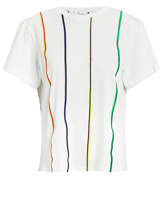 Striped Embroidered T-Shirt, WHITE/STRIPE, hi-res
