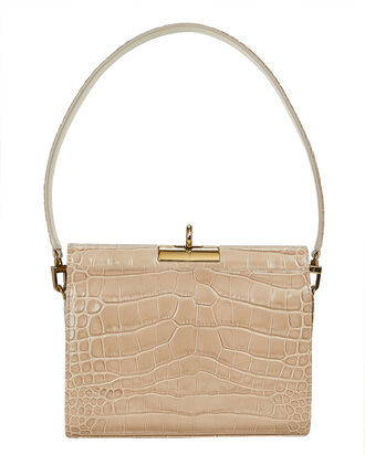 Gemma Croc-Embossed Mini Bag, BEIGE, hi-res