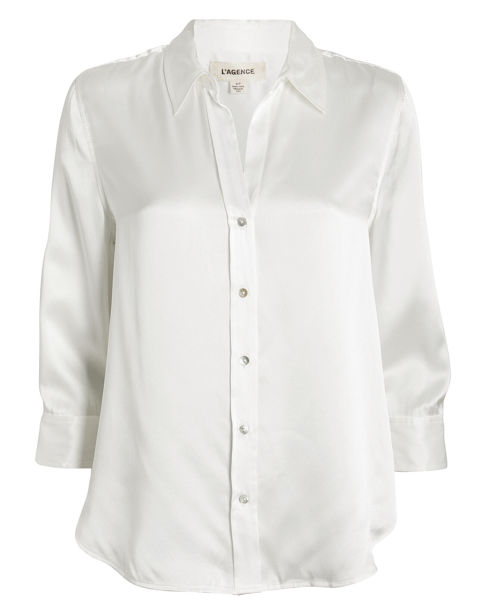 Dani Silk Button Front Blouse, IVORY, hi-res