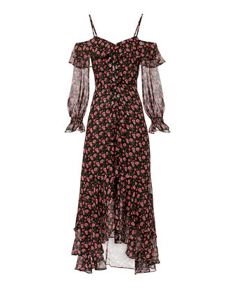 Beatrix Floral Dress, BLACK, hi-res