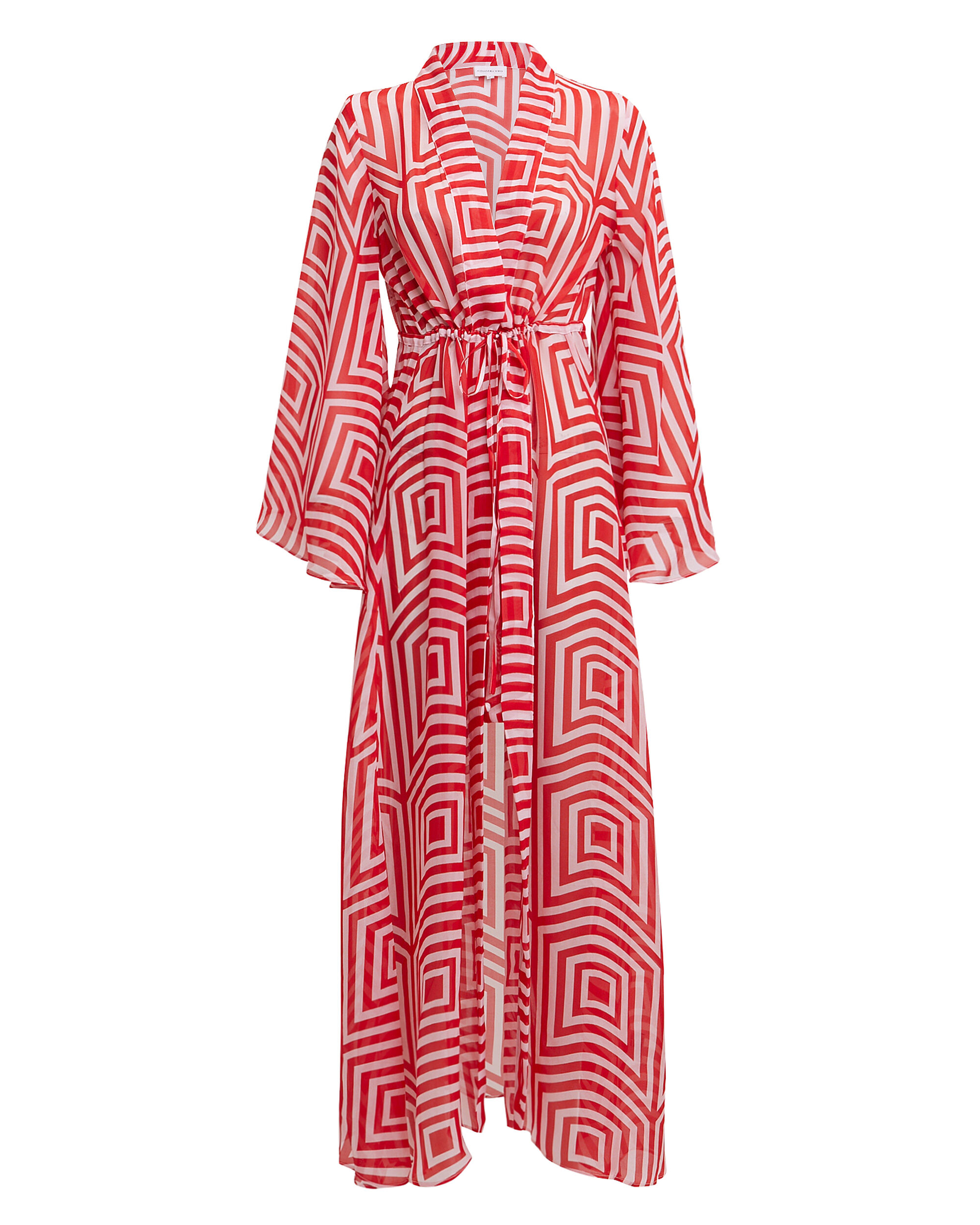 Betty Maxi Dress, RED/WHITE, hi-res