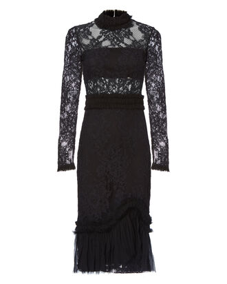 Anabella Lace Midi Dress, BLACK, hi-res