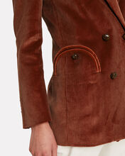 Classic Touch Everyday Corduroy Blazer, RED-DRK, hi-res
