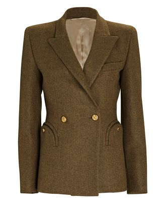 Cheveyo Lagoon Charmer Double-Breasted Blazer, OLIVE/ARMY, hi-res