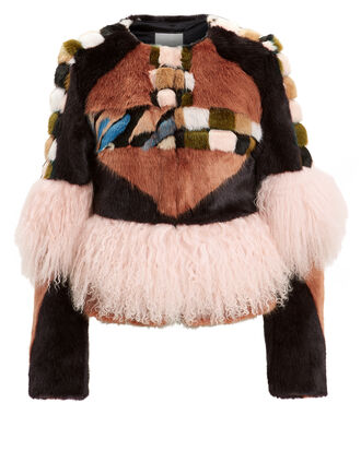 Kotto Faux Fur Jacket, BROWN/PINK, hi-res
