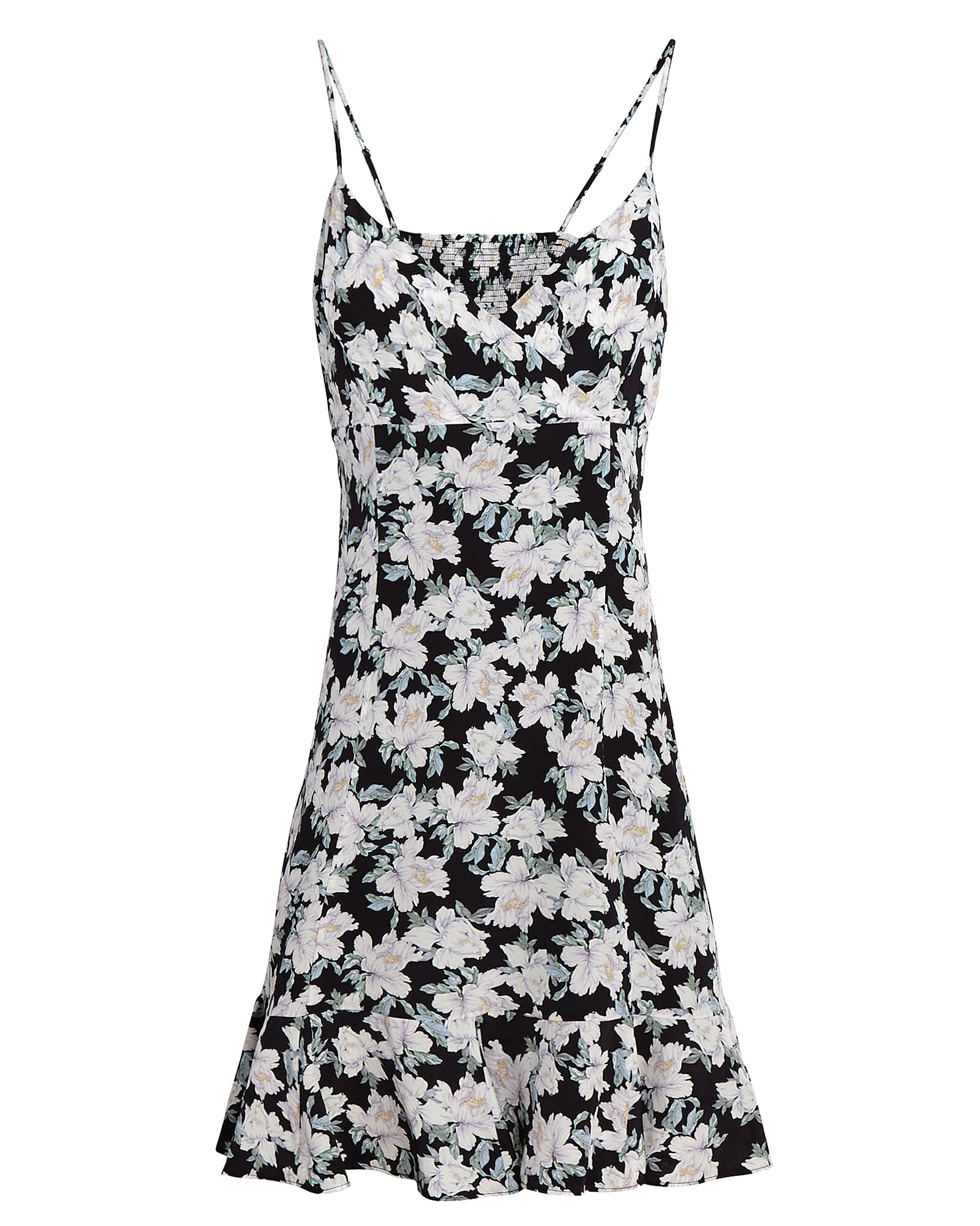 Monique Printed Silk Mini Dress, MULTI, hi-res