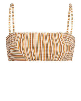 Lauren Striped Bikini Top, ORANGE STRIPE, hi-res