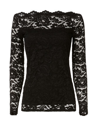 Heidi Lace Top, BLACK, hi-res