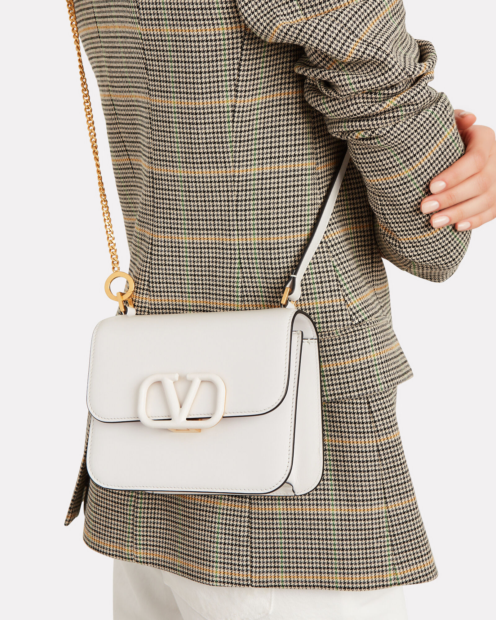 VSling Small Leather Shoulder Bag, ALABASTER, hi-res