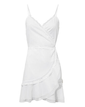 Shani Mini Wrap Dress, WHITE, hi-res