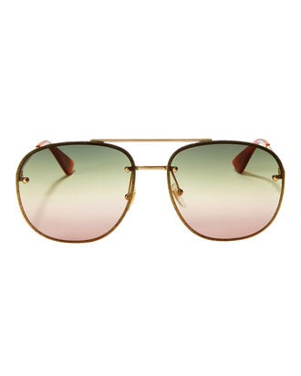 Glitter Aviator Sunglasses, GOLD, hi-res