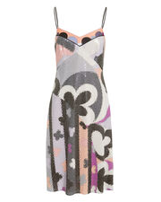 Abstract-Printed Sequin Dress, MULTI, hi-res