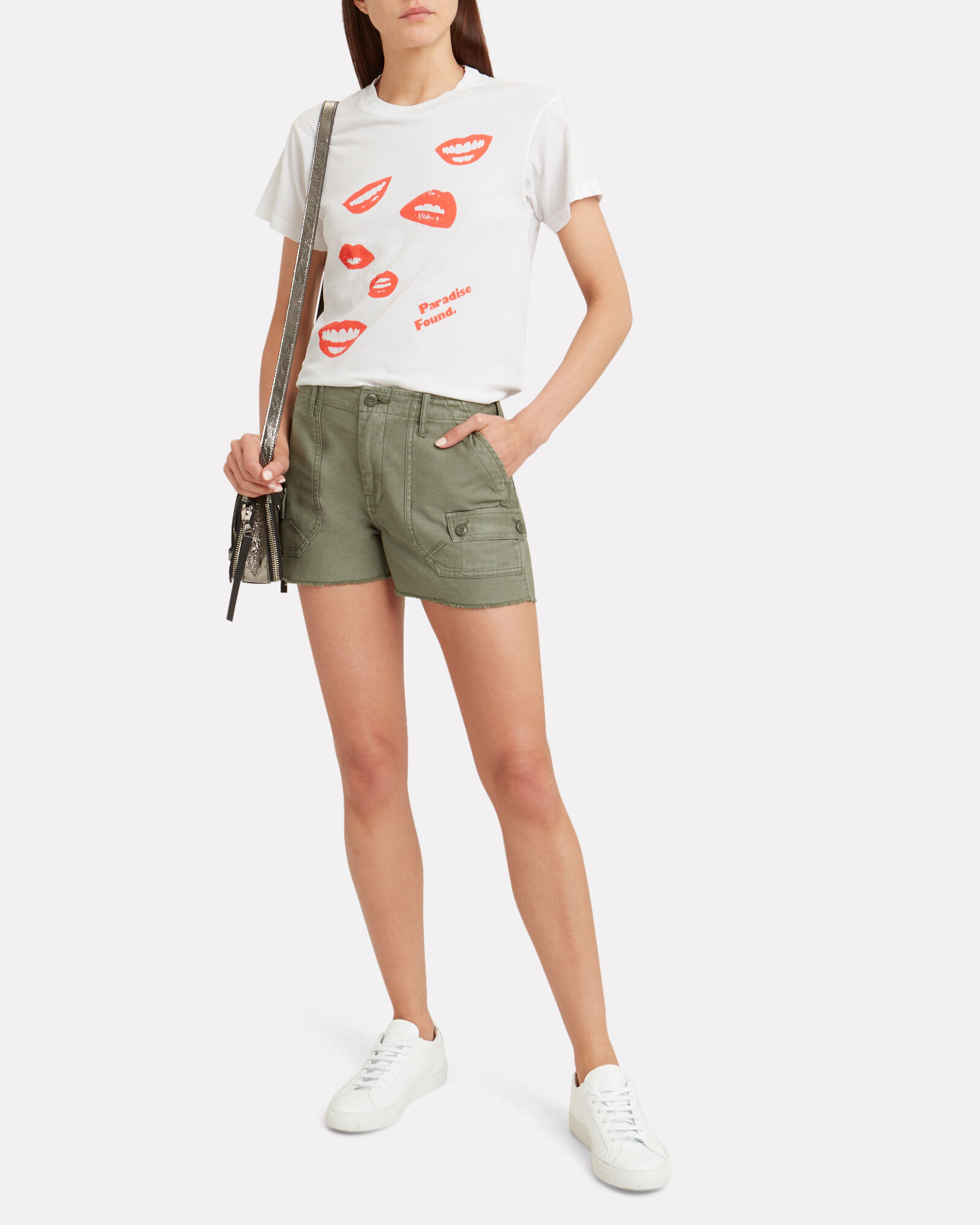 Service Military Denim Shorts, ARMY GREEN, hi-res